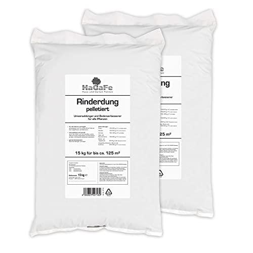 HaGaFe Rinderdung Organischer Gartendünger Universaldünger, 30kg (2x15kg)