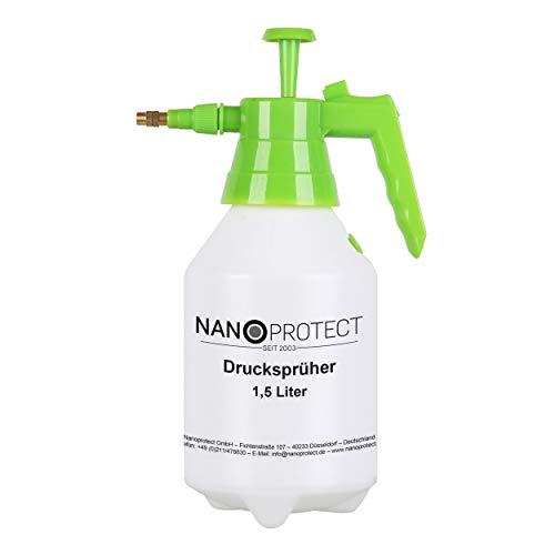 Nanoprotect Handsprüher 1,5 Liter | Drucksprüher mit Messingdüse |...