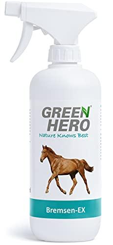 Green Hero Bremsen-EX Spray für Pferde Schützt vor Bremsen, Fliegen,...