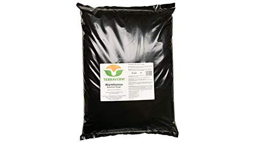 TerraVerm Wurmhumus - 10 Liter - Gartenerde, Wurmhumus, 100% natürlicher...