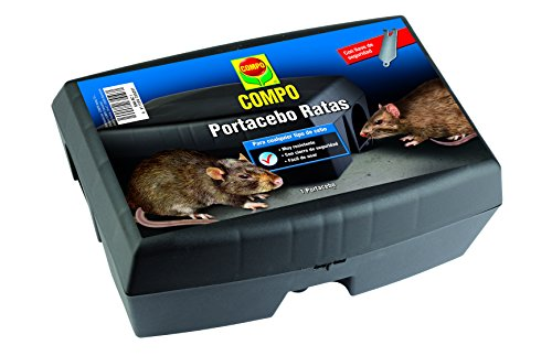 Compo Abwehrbox für Rattenköder, Kunststoff, Schwarz, 12 x 17 x 23,5 cm