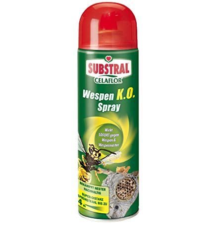 Substral Celaflor Wespen K.O. Spray, gegen Wespe und Wespennest, Super-...