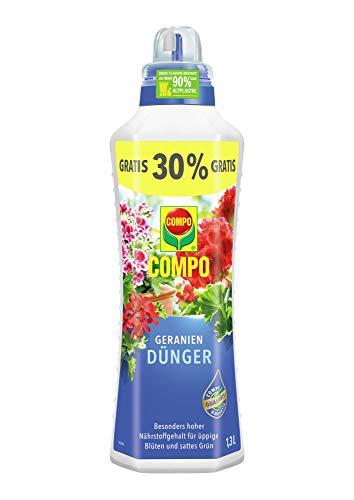 COMPO Geraniendünger für Geranien und alle stark zehrenden Pflanzen auf Balkon...