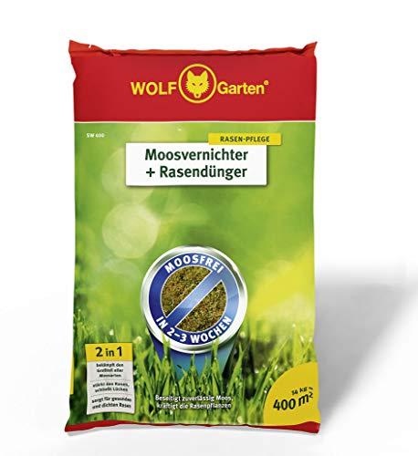 WOLF-Garten - Moosvernichter und Rasendünger - SW 400 - 14 kg für 400 m² -...