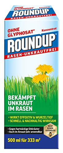 Roundup Rasen-Unkrautfrei Konzentrat, Spezial-Unkrautvernichter zur Bekämpfung...
