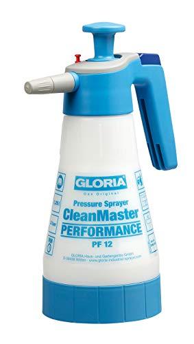 GLORIA Drucksprühgerät CleanMaster Performance PF12, 1,25L pH 2 bis 9, weiß