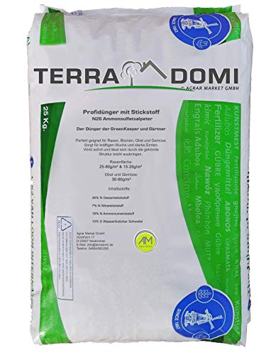TerraDomi 25kg Ammonsulfatsalpeter N26 Stickstoff-Dünger • Profi Rasendünger...