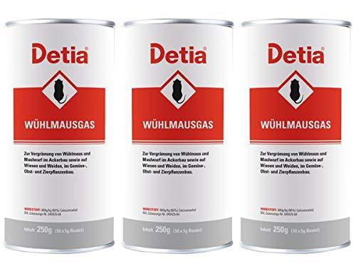 Detia Wühlmausgas 750 g - Vergrämungsmittel gegen Wühlmäuse und Maulwürfe....