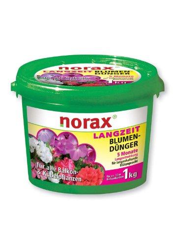norax Langzeit-Blumendünger 1kg für Balkon-, Kübel- und Blühpflanzen