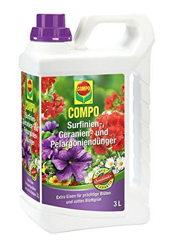 Compo Surfinien-, Geranien- und Pelargoniendünger, Spezial-Flüssigdünger mit...