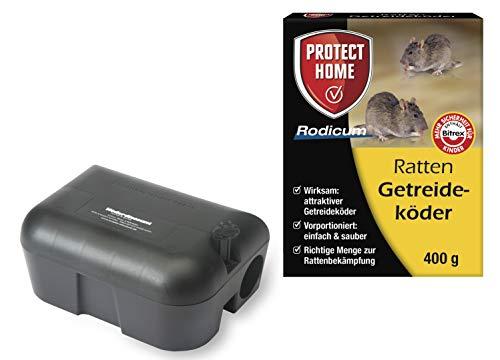 Köder-Discount: Sparset Rattenbekämpfung 1 Köderstation + 400g Rattengift