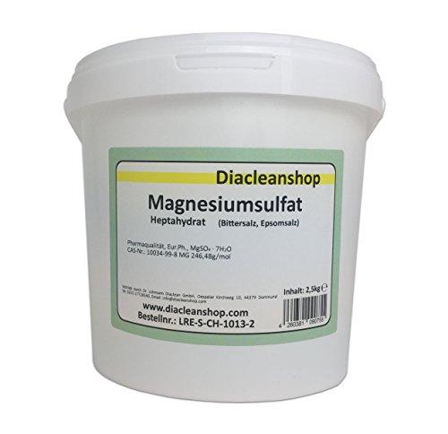 Magnesiumsulfat 2,5kg - Bittersalz - Epsom Salz - Epsomit - in Pharmaqualität...