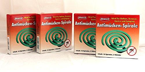 Anti-Mücken-Spiralen von Braeco Mückenspirale Insektenspirale Mückenspiralen...