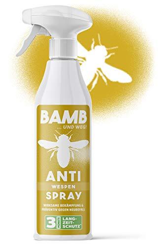 bamb Wespenspray Sofortwirkung & Präventiv – 500ml Anti Wespen Spray zum...