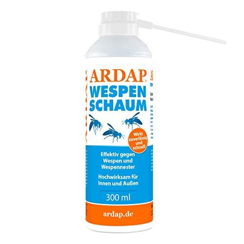 ARDAP Wespenschaum-Spray 300ml inkl. Sprührohr - Mit Sofort- & Langzeitwirkung...