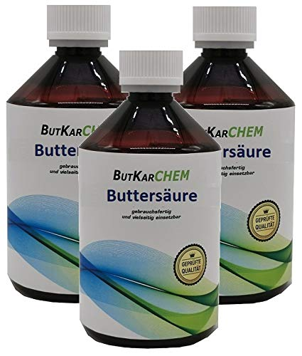 ButKarCHEM (3x250ml) Buttersäure (Varianten 250ml-3000ml) von Karbid 24 sehr...
