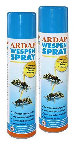 Wespenspray Ardap 2X 400ml Dose (800ml) Insektizid mit Sofort- und...