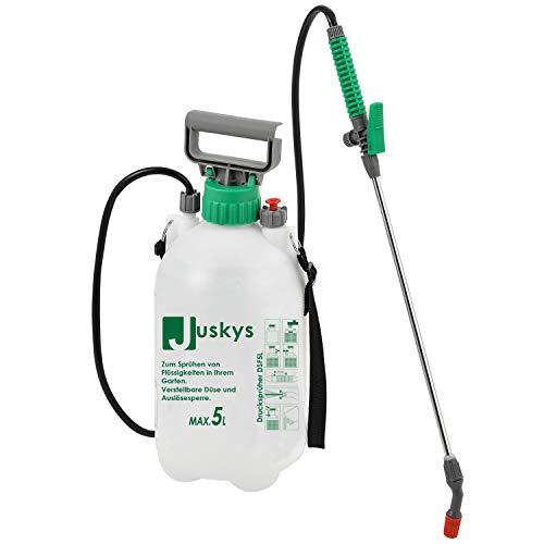 Juskys Drucksprüher DSF5L 5 Liter – Drucksprühgerät mit Überdruckventil &...