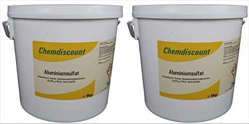 Chemdiscount 10kg (2x5kg) Aluminiumsulfat, 17/18%, Dünger, Flockmittel,...