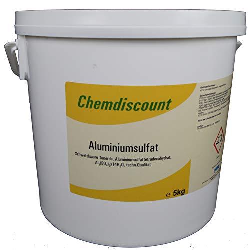 Chemdiscount  5kg Aluminiumsulfat, 17/18%, Dünger, Flockmittel, Isoliersalz