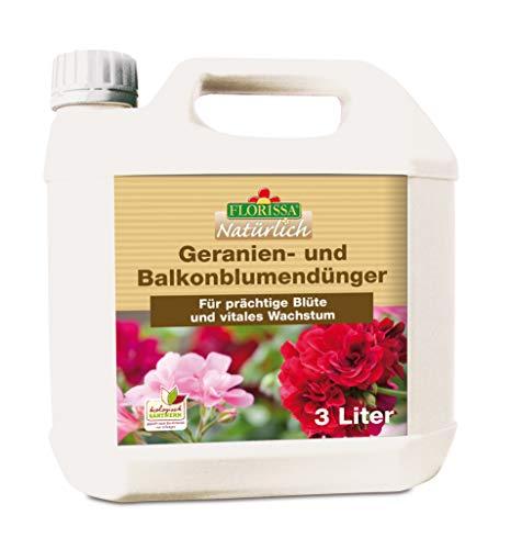 Florissa Natürlich BIO Geraniendünger und Balkonblumendünger für üppige |...