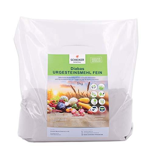 Schicker Mineral Diabas Urgesteinsmehl 5 kg feinstes Gesteinsmehl/reines...