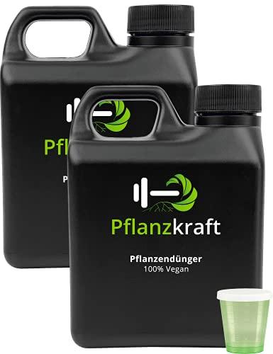 Pflanzkraft 2er-Set NPK Dünger mit Seetang | 2x1L für 600 Liter Gießwasser |...