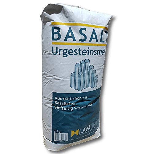 Basalt Urgesteinsmehl 25 kg Bodenaktivator Bodenhilfsstoff Garten Beet Rasen Uni