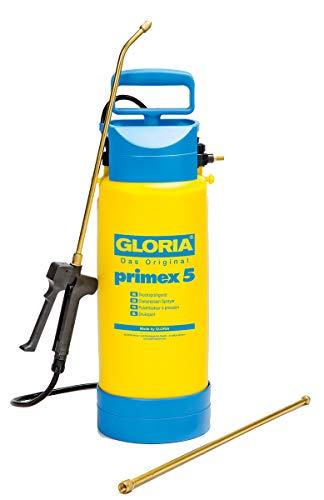 GLORIA Drucksprüher Primex 5 Unkrautspritze,5L, inkl. 0,5m...