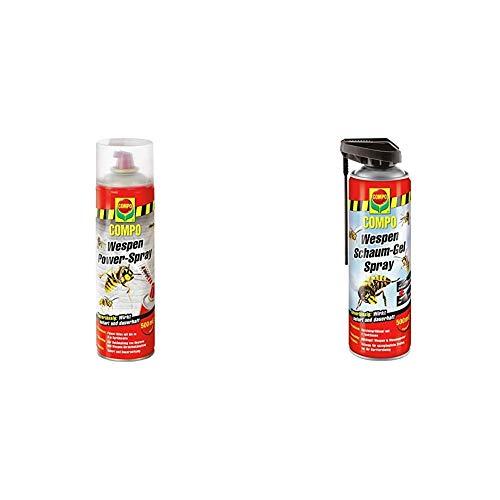 Compo Wespen Power-Spray, Inkl. Power-Düse, Sofort- und Langzeitwirkung, 500 ml...