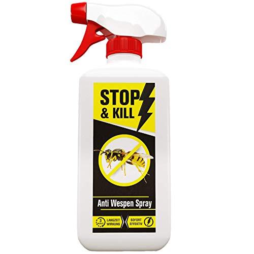 STOP & KILL Anti Wespen Spray 500ml | Wespenabwehr mit Sofort- & Langzeitwirkung...