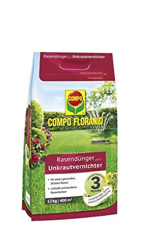 Compo FLORANID Rasendünger plus Unkrautvernichter, 3 Monate Langzeitwirkung,...