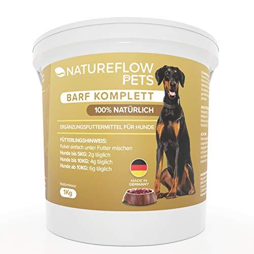 Natureflow Barf Zusatz Hund - 1kg Natürliches Barf Pulver Made in Germany als...