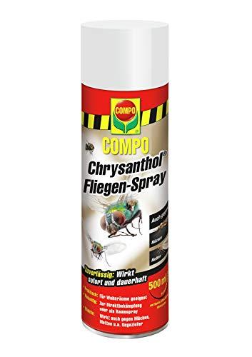 COMPO Chrysanthol Fliegen-Spray, Insektenspray gegen Fliegen, Mücken, Motten...