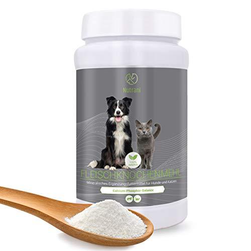 Nutrani Fleischknochenmehl für Hunde und Katzen | 1 kg - 100% natürliches und...