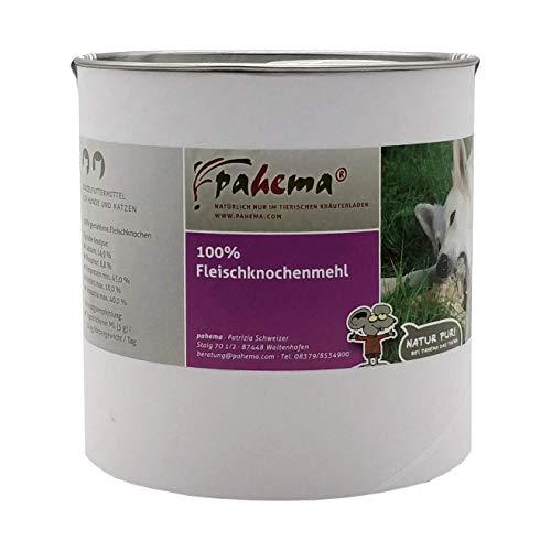 pahema Fleischknochenmehl - 100% Natur - Kalziumzusatz beim Barfen, Barf...