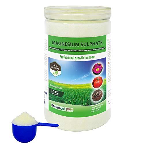 Nortembio Agro Natürliches Magnesiumsulfat 1,2 Kg. Universeller Dünger....