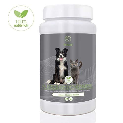 Nutrani Fleischknochenmehl für Hunde und Katzen   1 kg - 100% natürliches und...