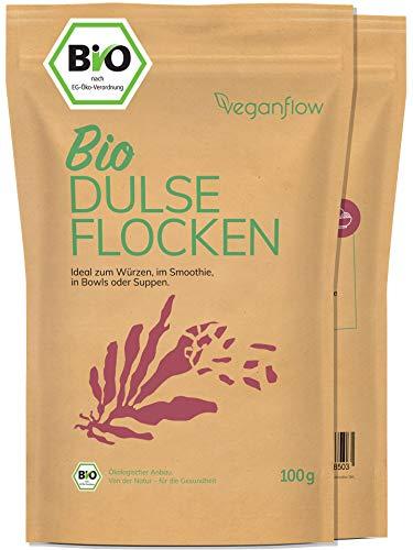 veganflow® Dulse Flocken Bio aus dem Atlantik, Rotalgen für Detox-Smoothie...