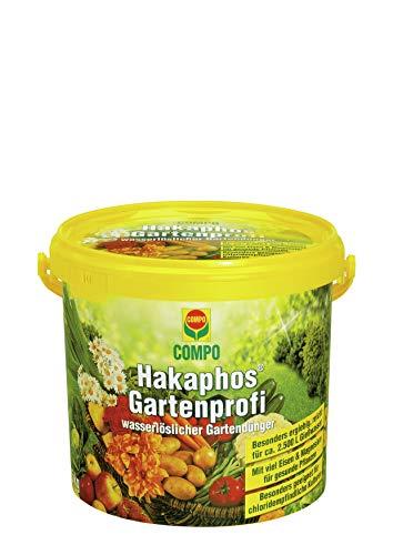 COMPO Hakaphos-Gartenprofi, Wasserlöslicher Gartendünger, 5 kg