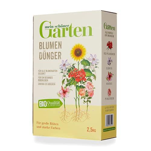 Mein schöner Garten Blumendünger 2,5kg – Zulässig für den Bio-Anbau –...
