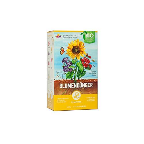 Plantura Bio Blumendünger mit 3 Monaten Langzeitwirkung, 1,5 kg, für den...