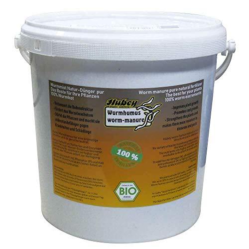 Hubey Wurmhumus - 10 L Eimer - organischer Bodenverbesserer - Biodünger...
