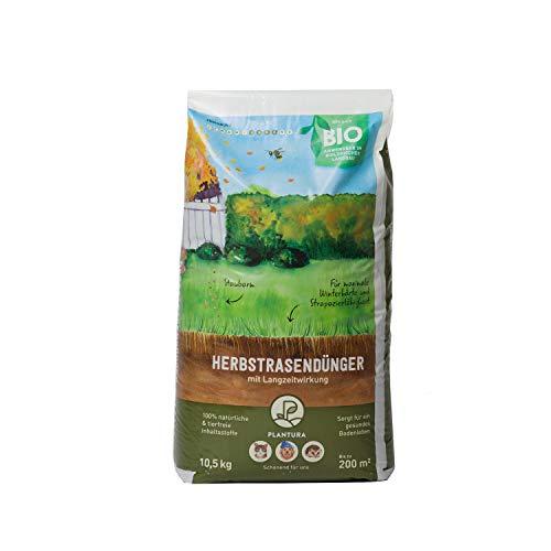 Plantura Bio Herbstrasendünger mit Langzeit-Wirkung, 10,5 kg, für maximale...