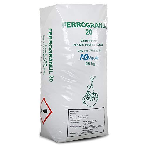 A&G-heute 25kg Eisendünger Rasendünger Ferrogranul 20 Eisen-2-Sulfat für ca....