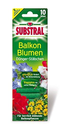 Substral Dünger-Stäbchen für Balkonpflanzen mit Eisen-Plus und 2 Monate...
