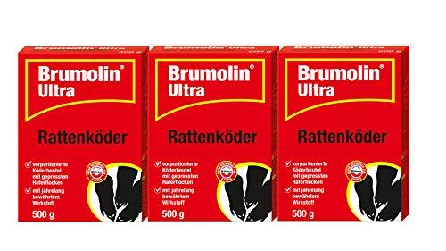 Brumolin 3 X 500g Ultra Rattenköder