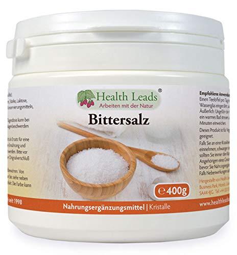 Reines Bittersalz, 400g, Lebensmittelqualität, Epsom Salz, Magnesium Sulfat,...