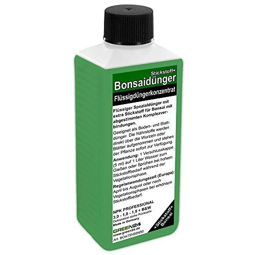 GREEN24 Bonsai-Dünger NPK Stickstoff+ HIGHTECH Dünger zum düngen von Bonsai...