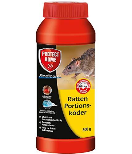 PROTECT HOME Rodicum Ratten Portionsköder 500g vorportionierte Rattenköder,...